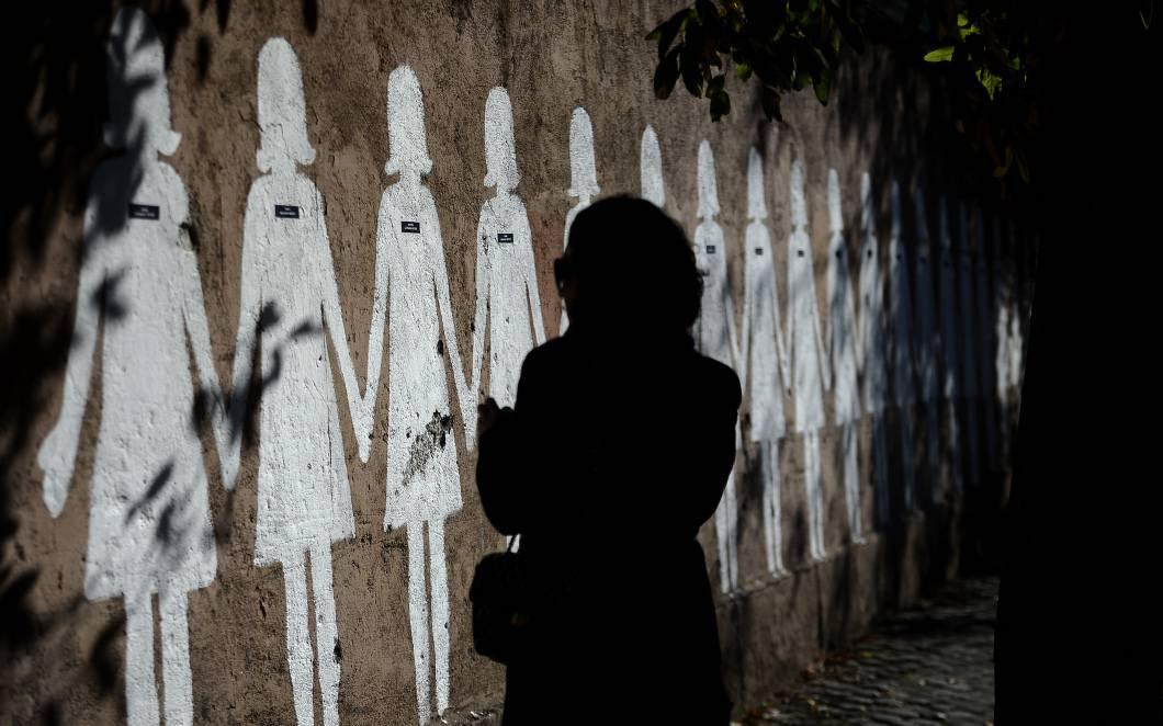 Manifestazione contro la violenza sulle donne (FILIPPO MONTEFORTE/AFP/Getty Images)