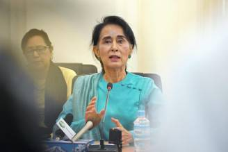 Aung San Suu Kyi (Phyo Hein Kyaw/AFP/Getty Images)