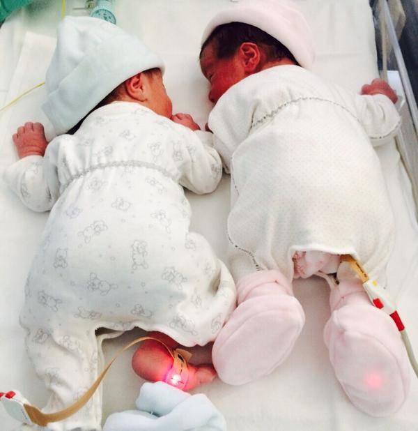 I gemelli di Beatrice Lorenzin (da twitter)