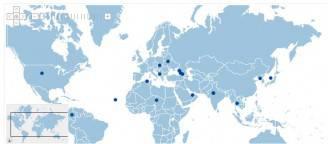 La mappa dei Paesi a rischio (dal sito del Ministero degli Esteri)