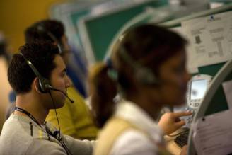Un call center (FINDLAY KEMBER/AFP/Getty Images)