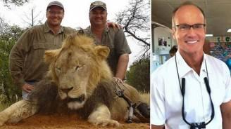 A destra e il primo da sinistra Walter Palmer, il dentista americano che ha ucciso il leone Cecil (Foto dal web)