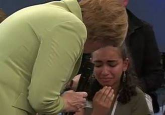 Merkel e Reem (screenshot YouTube)