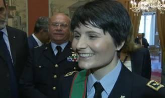 Samantha Cristoforetti (screenshot Rainews24)
