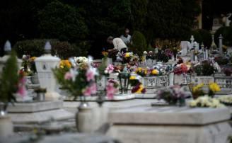 Il cimitero del Verano a Roma (FILIPPO MONTEFORTE/AFP/Getty Images)
