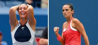 Flavia Pennetta e Roberta Vinci agli Us Open di Tennis (Getty Images)