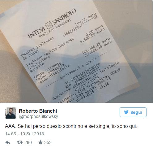 ricevuta bancomat
