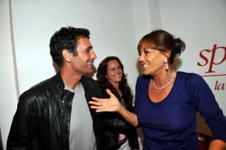 Raul Bova e Anna Maria Bernardini De Pace, dietro Chiara Giordano