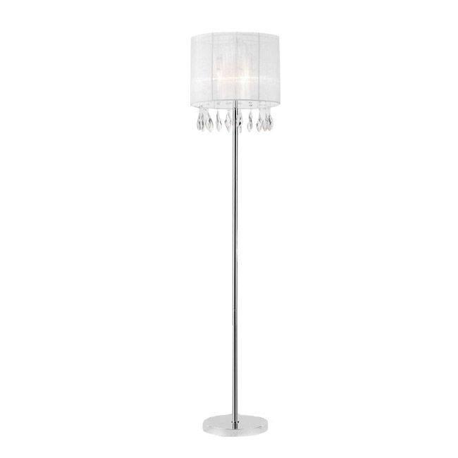 Piantana con paralume bianco e cristalli - Nandina - 153,00€