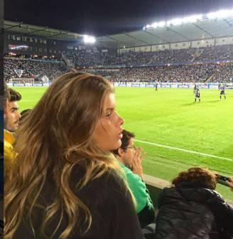 Maja Darving allo stadio (Foto Instagram)