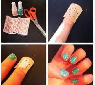 nail art con il cerotto