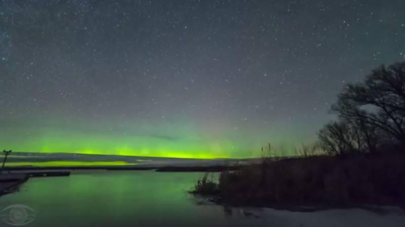 Aurora boreale (Screenshot YouTube)