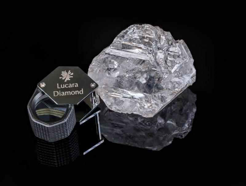 Diamante di Lucara Diamonds trovato in in Botswana (Foto sito ufficiale)