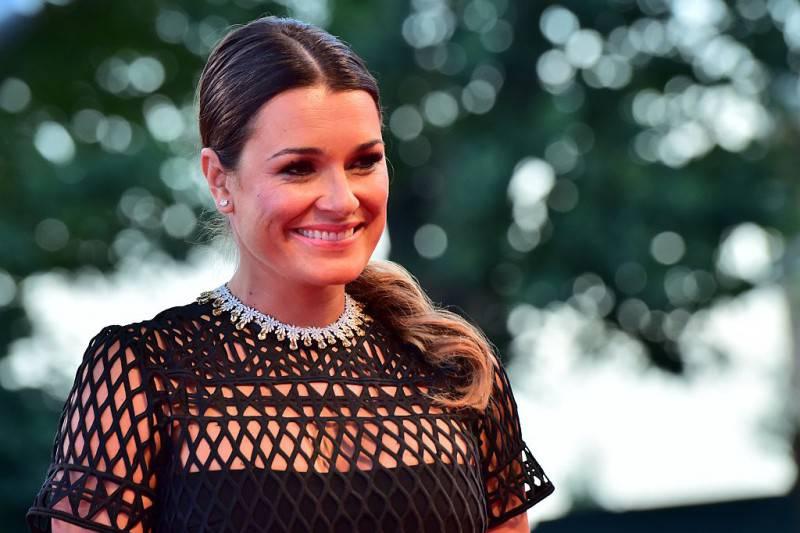 "Alena Seredova arrives for the screening of the movie ""Sangue del mio sangue"""