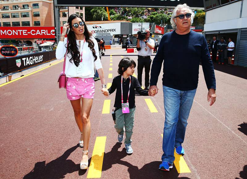 Flavio Briatore, Elisabetta Gregoraci e il loro figlio (Mark Thompson/Getty Images)
