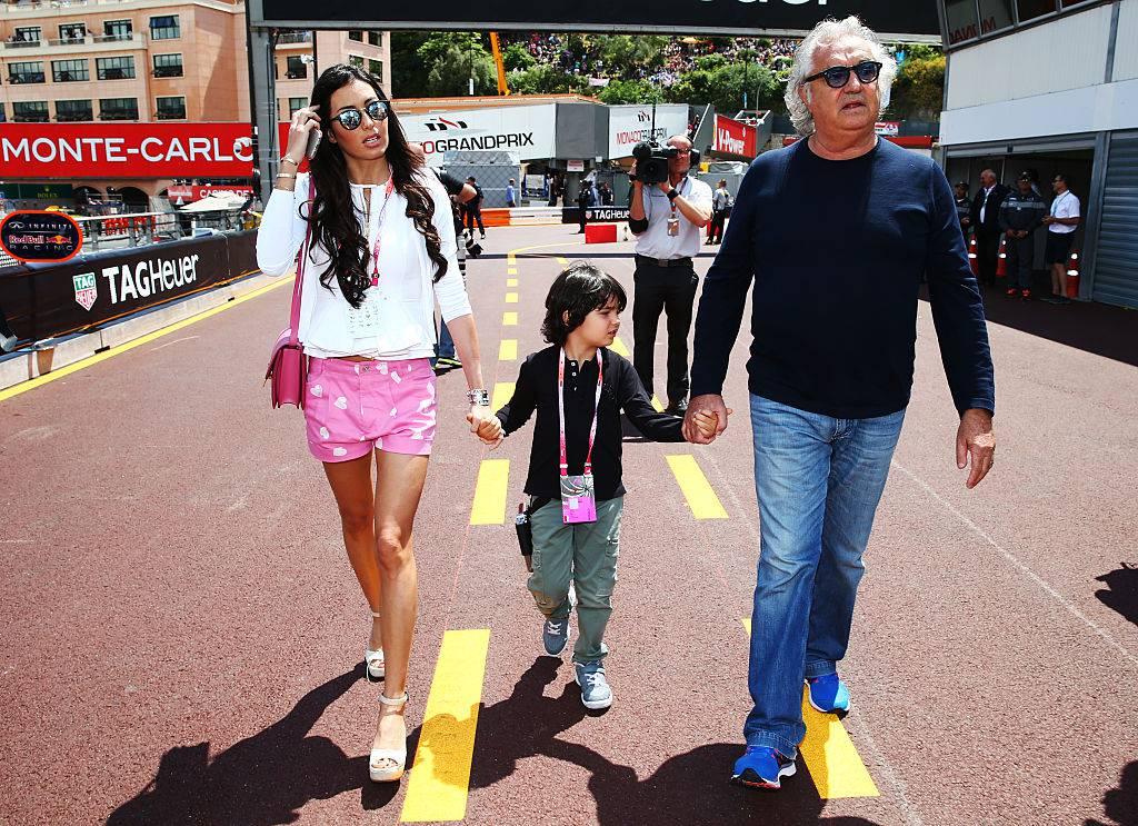 Flavio Briatore, Elisabetta Gregoraci e il loro figlio (Mark Thompson/Getty Images)