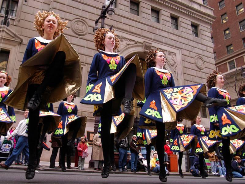 Danza popolare irlandese al  Patrick's Day di Philadelphia (William Thomas Cain/Getty Images)
