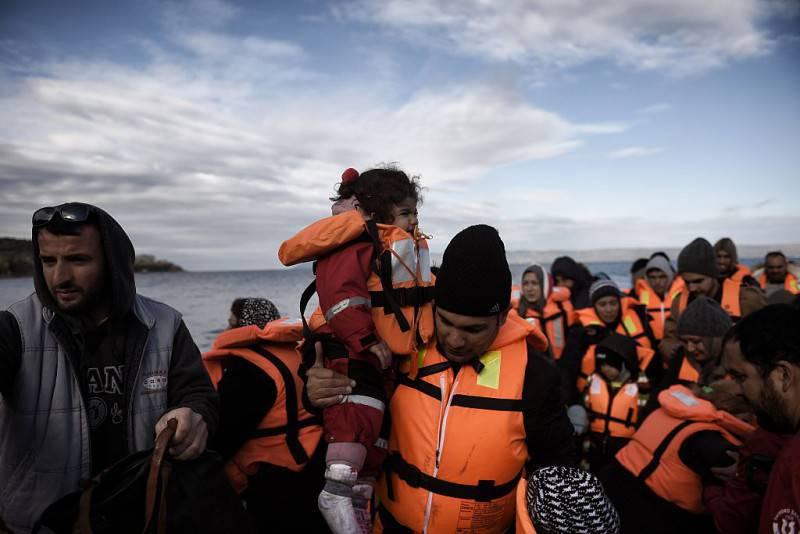 Migranti sull'isola di Lesbo (Getty Images)