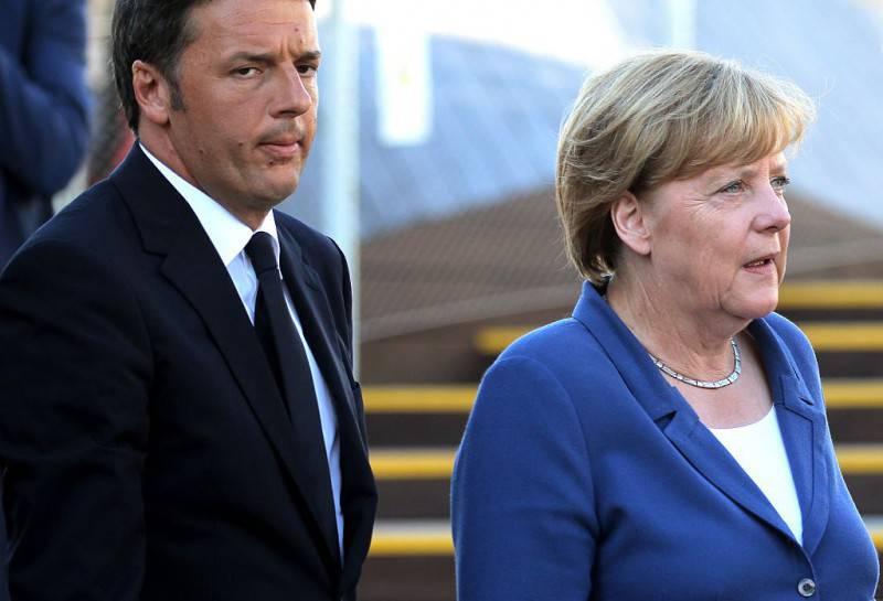 Matteo Renzi e Angela Merkel (MARCO BERTORELLO/AFP/Getty Images)