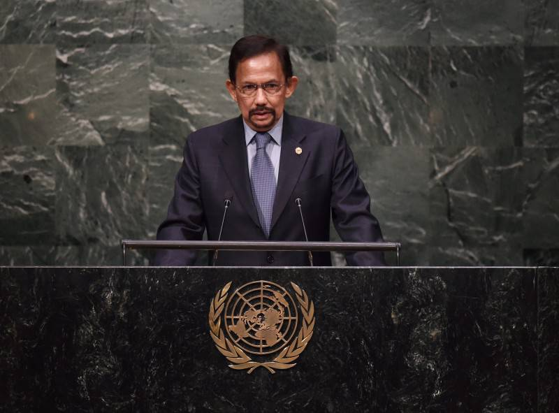 Il Sultano del Brunei (TIMOTHY A. CLARY/AFP/Getty Images)