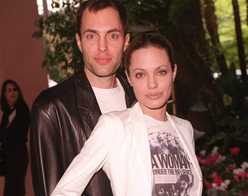 Angelina Jolie e il fratello James Haven (Getty Images)