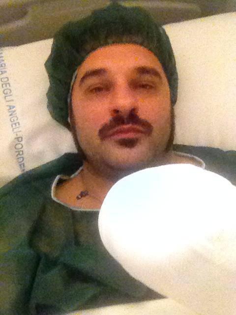 Mauro Marin in ospedale (Foto Facebook)