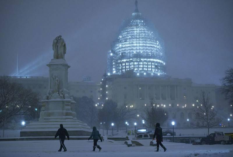 Neve a Washington (MANDEL NGAN/AFP/Getty Images)
