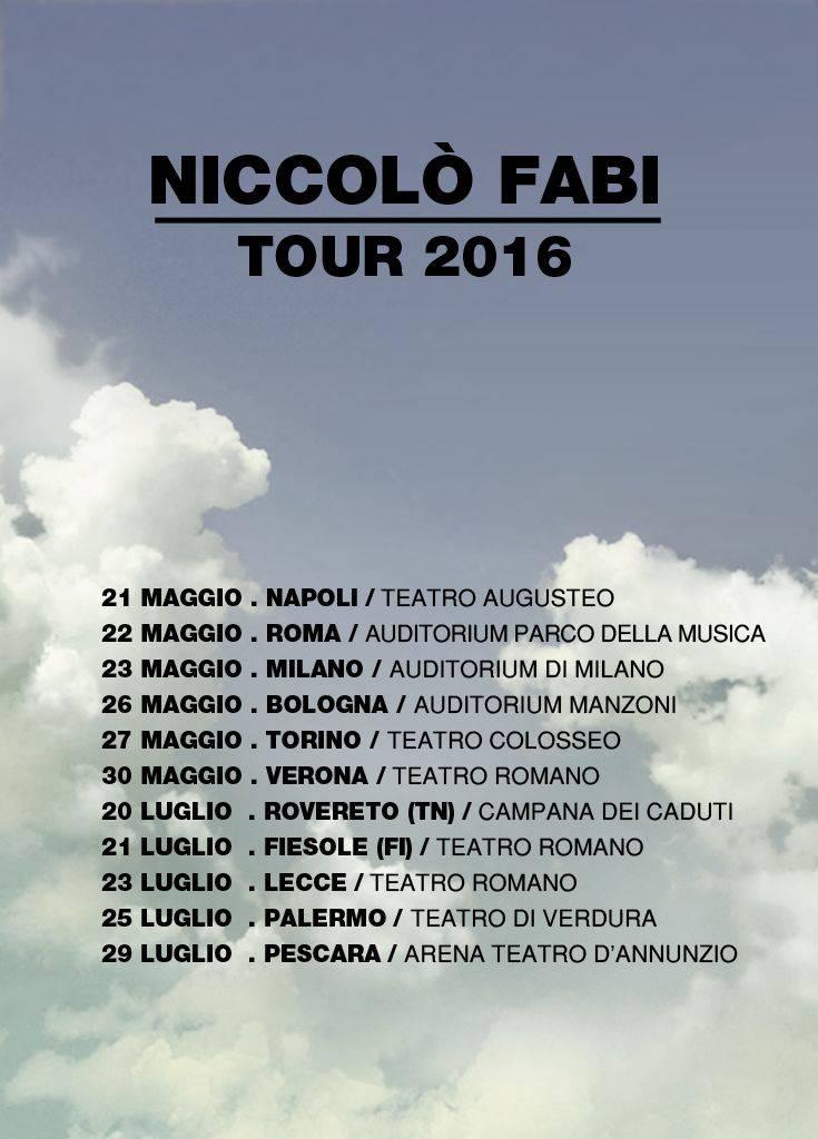 Tour Niccolò Fabi