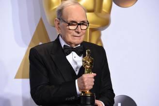 Ennio Morricone con l'Oscar (ROBYN BECK/AFP/Getty Images)