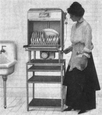 Lavastoviglie elettrica del 1917 (Wikipedia, pubblico dominio)