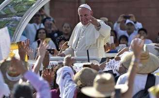 Papa Francesco in Messico (OMAR TORRES/AFP/Getty Images)