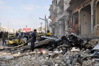 Autobomba a Homs, Siria (STRINGER/AFP/Getty Images)