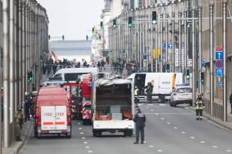 Attentato alla stazione di Maelbeek della metro di Bruxelles (LAURIE DIEFFEMBACQ/AFP/Getty Images)