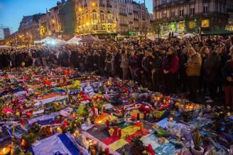 Commemorazione delle vittime degli attentati di Bruxelles (LAURIE DIEFFEMBACQ/AFP/Getty Images)