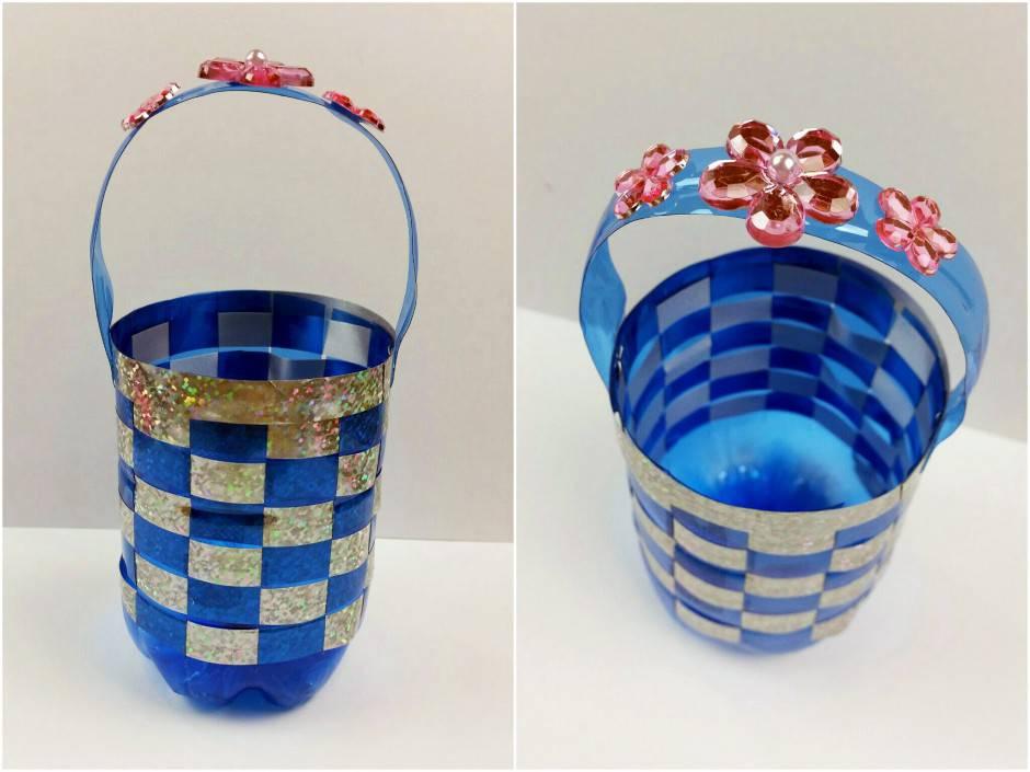 Bricolage Con Bottiglie Di Plastica.Pasqua Fai Da Te Cestino Con Una Bottiglia Di Plastica