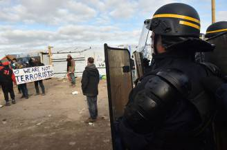 Proteste dei migranti a Calais (PHILIPPE HUGUEN/AFP/Getty Images)