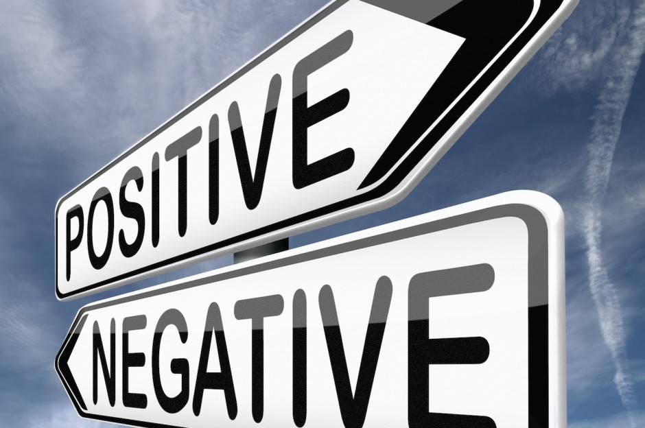 insegna positivo negativo