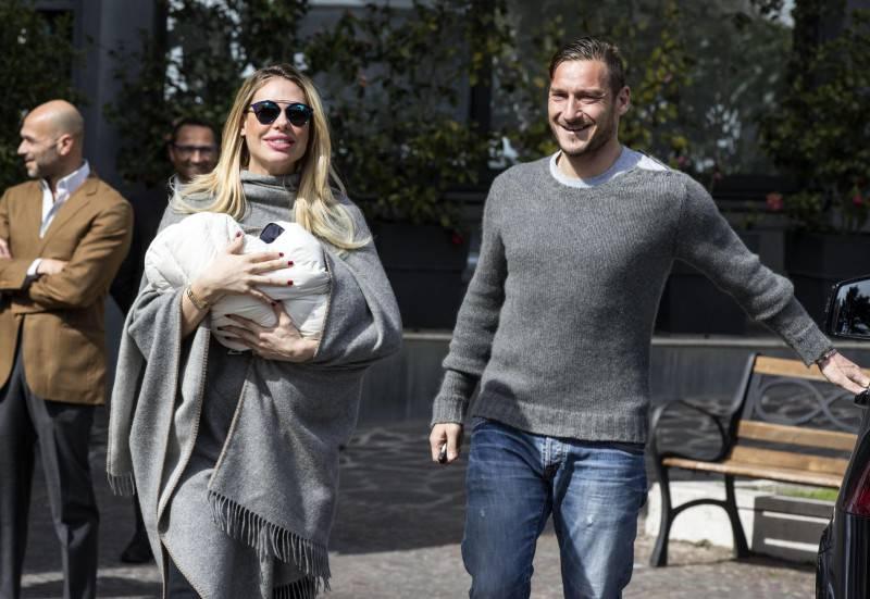 Totti e Ilary Blasi, auguri social alla figlia Chanel (Getty Images)