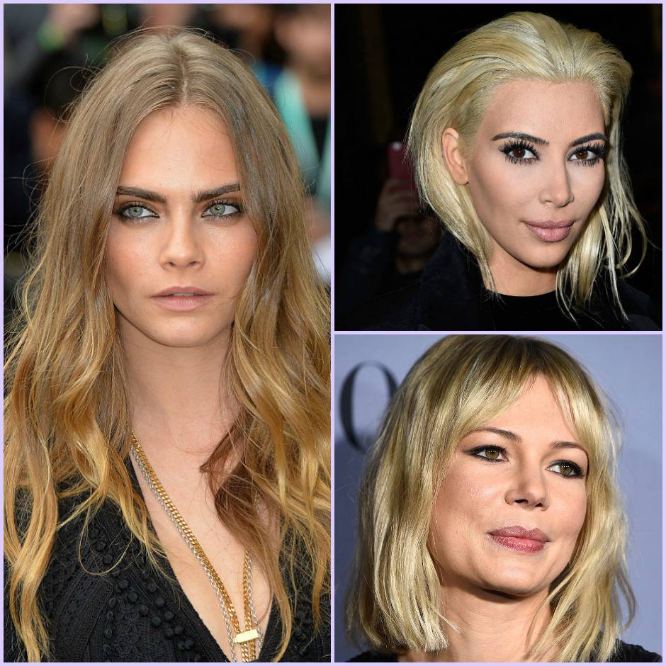 capelli biondi collage