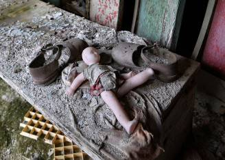 Anniversario di Chernobyl. Quello che resta della vicina città fantasma di Pripyat (GENYA SAVILOV/AFP/Getty Images)
