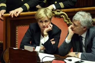 Federica Guidi e Gianluca Galletti (Franco Origlia/Getty Images)