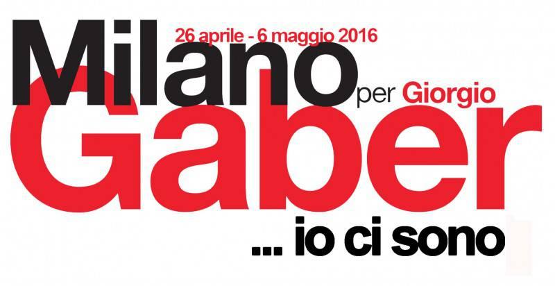 logo Milano per Gaber_ io ci sono