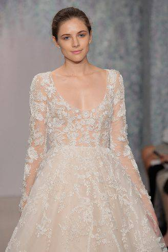 Abito da sposa Monique Lhuillier (Getty Images)