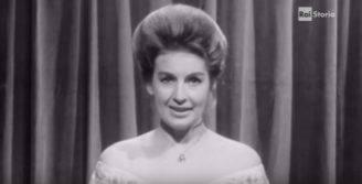 Fulvia Colombo nel primo annuncio Rai (Screenshot)