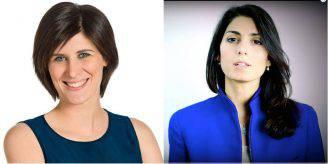 Chiara Appendino e Virginia Raggi (Foto Facebook)