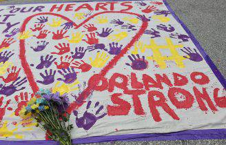 Commemorazione per la sparatoria di Orlando (MANDEL NGAN/AFP/Getty Images)