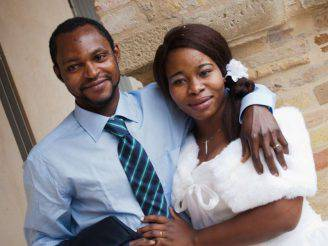 Emmanuel Chidi e a moglie Chimiary