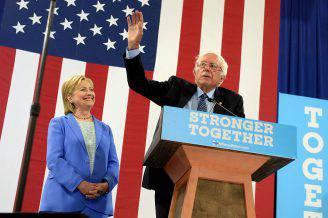 Bernie Sanders e Hillay Clinton (Darren McCollester/Getty Images)