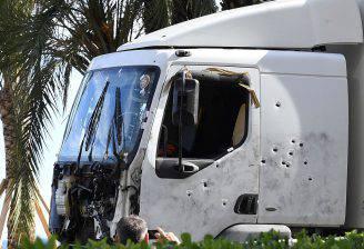 Il camion dell'attentato di Nizza (BORIS HORVAT/AFP/Getty Images)
