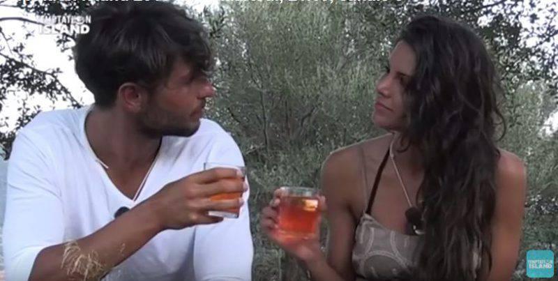Fabrio Ferrara e Francesca Serra a Temptation Isalnd (Screenshot YouTube)